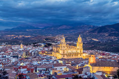 Cityscape of Jaen in the evening. Andalusia, Spain Royalty Free Stock Image