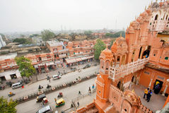 Cityscape of Jaipur from walls of Palace of Winds Royalty Free Stock Images