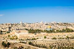Cityscape of Jerusalem, Israel Royalty Free Stock Images