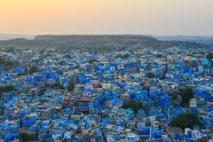 Cityscape of Jodhpur, India. Blue City at sunset in Jodhpur, India. Jodhpur, also know as the Gateway of Thar Desert, is a very popular tourist destination Stock Photography