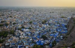 Cityscape of Jodhpur, India. Blue City at sunset in Jodhpur, India. Jodhpur is known as the Blue City because of the blue colours that decorate many of the Royalty Free Stock Photography