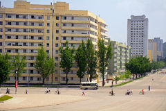 Cityscape, Kaesong, North-Korea Stock Image