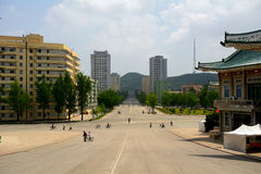 Cityscape, Kaesong, North-Korea Royalty Free Stock Images