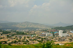 Cityscape, Kaesong, North-Korea Stock Photos