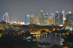 Cityscape by Kallang Basin Royalty Free Stock Photos