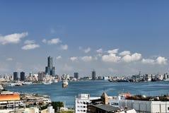 cityscape kaohsiung Arkivfoto