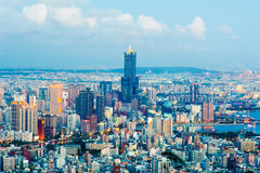 Cityscape of Kaohsiung city, Taiwan. Skyline of Kaohsiung at night Royalty Free Stock Photos