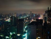 Cityscape of Kaohsiung, Taiwan at night royalty free stock photography