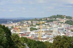 Cityscape from Karlshoe, Stuttgart Royalty Free Stock Photo