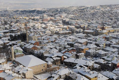 Cityscape of Kastamonu in Winter Stock Photos