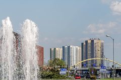 Cityscape of Katowice Stock Images