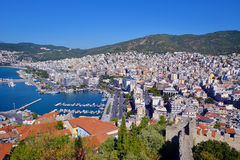 Cityscape of Kavala, Greece Stock Photography