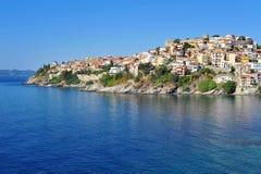 Cityscape of Kavala, Greece Royalty Free Stock Image