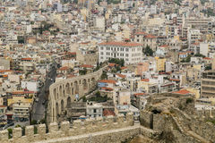 Cityscape of Kavala, Greece royalty free stock images