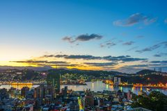 Cityscape of keelung, taiwan Royalty Free Stock Image