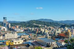 Cityscape of keelung, taiwan Stock Photo