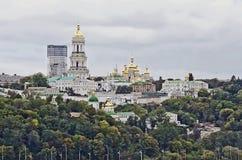 Cityscape of Kiev Pechersk Lavra Stock Photos