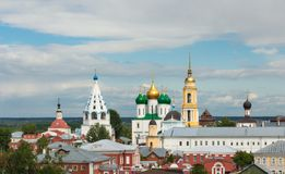 The cityscape of the Kolomna Kremlin on the sky background Royalty Free Stock Images