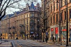 Cityscape of Krakow Stock Images