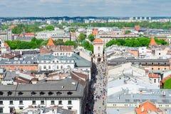Cityscape of Krakow, Poland Royalty Free Stock Photography