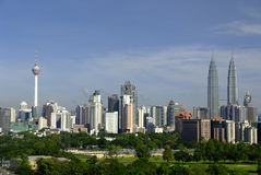 Cityscape Kuala Lumpur. Kuala Lumpur skyline with the twin tower and KL tower in the back ground Stock Photo