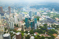 Cityscape in Kuala Lumpur Royalty Free Stock Photography