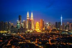 Cityscape of Kuala lumpur city Stock Image