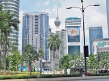 Cityscape of Kuala Lumpur City, Malaysia. Stock Images
