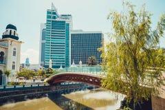 cityscape Kuala Lumpur lägenhetarkitektur som bygger det gammala moderna nya kontoret för historiskt hus huvudKuala Lumpur malays Royaltyfri Bild