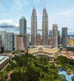 Cityscape of the Kuala Lumpur, Malaysia Royalty Free Stock Photos