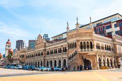 Cityscape of Kuala Lumpur at Merdeka Square. The main square of the city reminds the British colonization Royalty Free Stock Photography