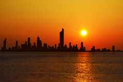 Cityscape of Kuwait City Royalty Free Stock Image