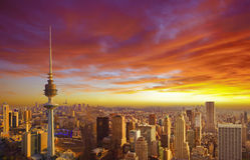 Cityscape of Kuwait Stock Photos
