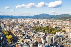 Cityscape of Kyoto, Japan Royalty Free Stock Image