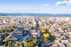 Cityscape of Kyoto, Japan Stock Photos