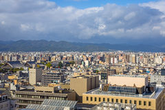 Cityscape of Kyoto, Japan Stock Image