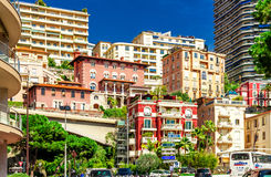 Cityscape of La Condamine, Monaco-Ville, Monaco Stock Photos