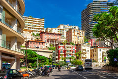 Cityscape of La Condamine, Monaco-Ville, Monaco Royalty Free Stock Photos