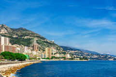Cityscape of La Condamine, Monaco-Ville, Monaco Royalty Free Stock Photo