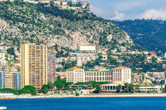 Cityscape of La Condamine, Monaco-Ville, Monaco Royalty Free Stock Images