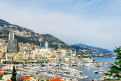 Cityscape of La Condamine, Monaco-Ville, Monaco Stock Photo