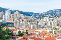 Cityscape of La Condamine, Monaco-Ville, Monaco Royalty Free Stock Photography