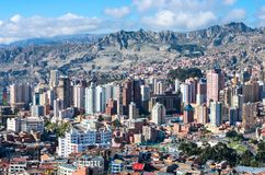 Cityscape of La Paz, Bolivia Royalty Free Stock Photography