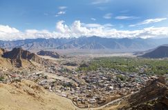 Cityscape of Leh, HDR Royalty Free Stock Photos