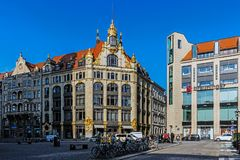 Cityscape of Leipzig Royalty Free Stock Photo