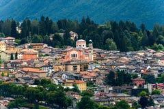 Levico Terme Town - Trentino Alto Adige Italy. Cityscape of Levico Terme in Valsugana Sugana Valley, Trentino Alto Adige, Italy, Europe royalty free stock photo