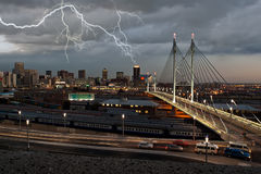 Cityscape lightning Stock Images