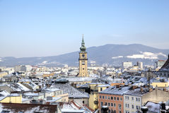 Cityscape of Linz from Linzer Schloss. Royalty Free Stock Photography