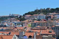 Cityscape of Lisbon. City, castle, rooftops, capital, Portugal, travelphotography royalty free stock photos