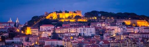 Cityscape Lisbon at Night Royalty Free Stock Photography